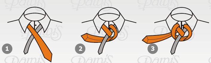 Wiązanie krawata - węzeł windsorski